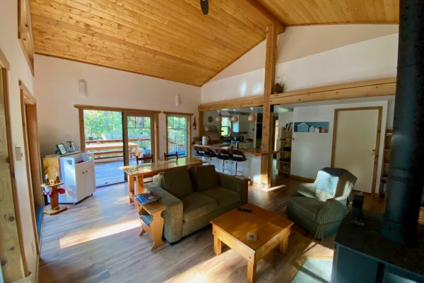 Interior design cottage Galiano Isalnd Vancouver British Columbia Stephen Stewart small space